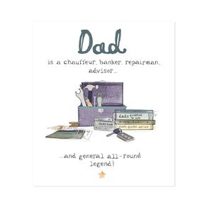 John Sands Father's Day Card General Wish Hum All Round Legend