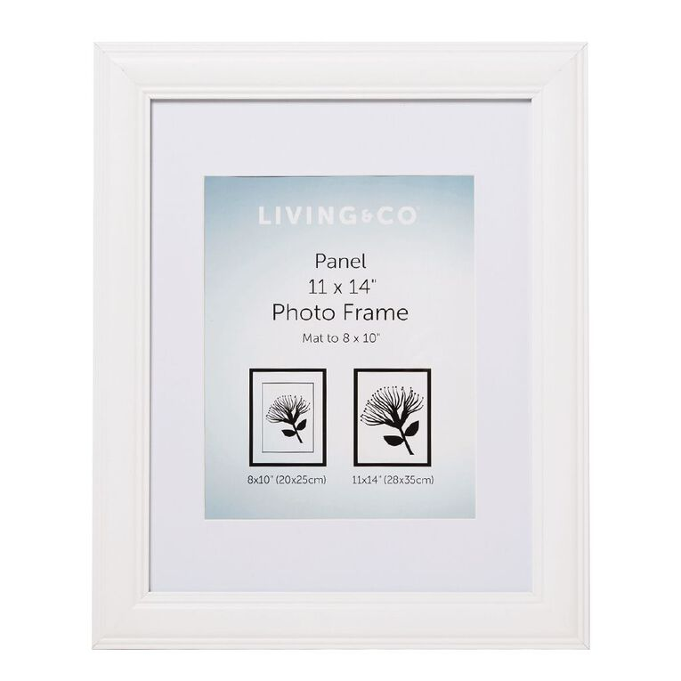 Living & Co Panel Frame 8x10in White 11in x 14in, White, hi-res image number null