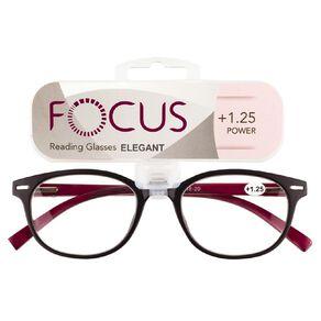 Focus Reading Glasses Elegant Power 1.25