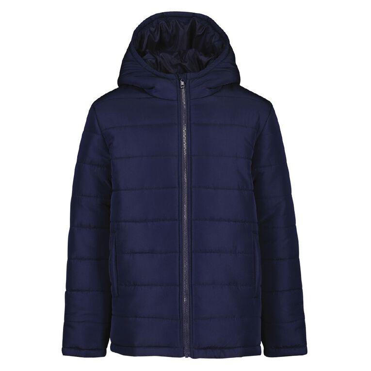 Young Original Plain Puffer Jacket, Blue Dark, hi-res