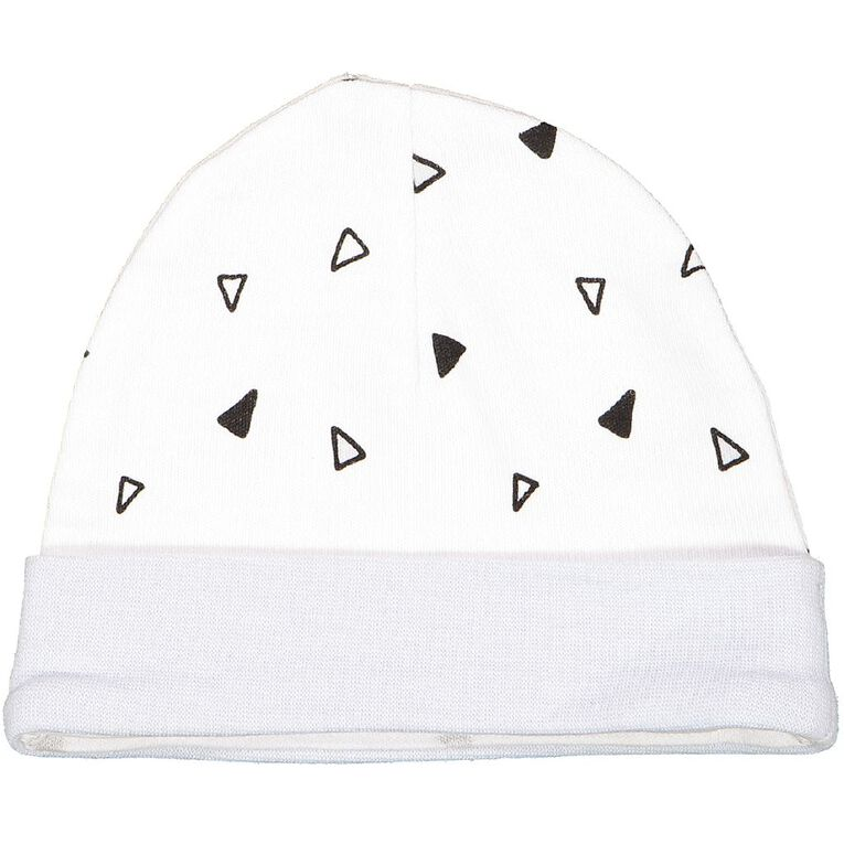 Young Original Baby 2 Pack Printed Beanie, White, hi-res