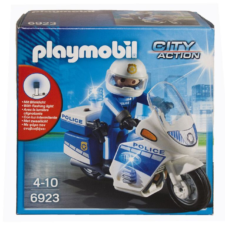 Playmobil Police Bike with LED Light, , hi-res