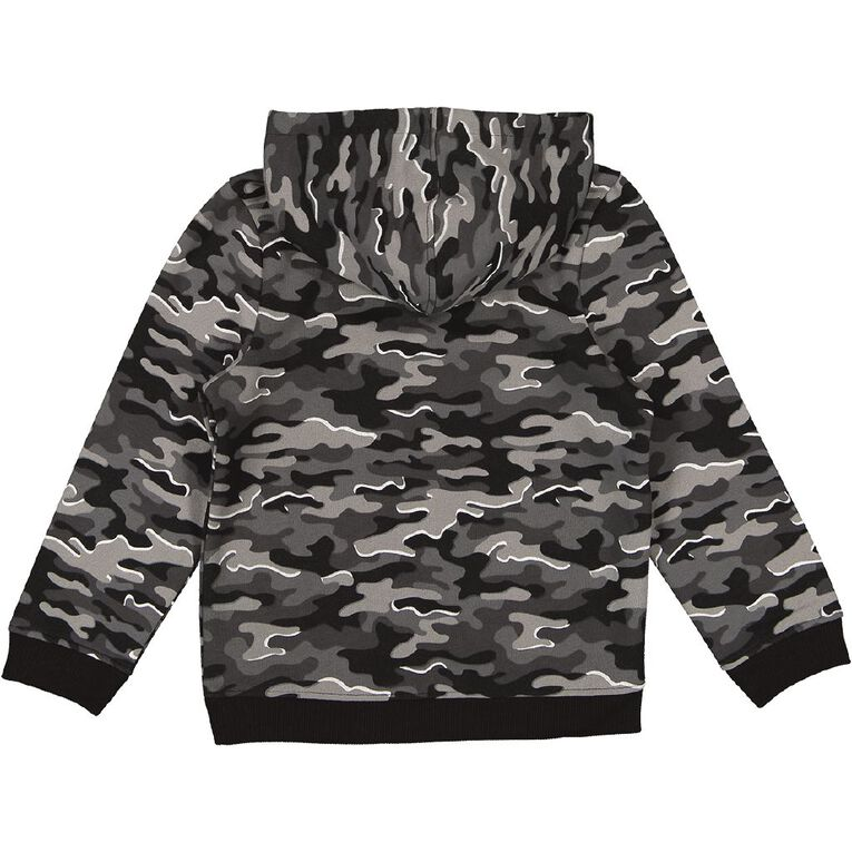 Young Original Pull Over AOP Hoodie Sweatshirt, Black/White, hi-res
