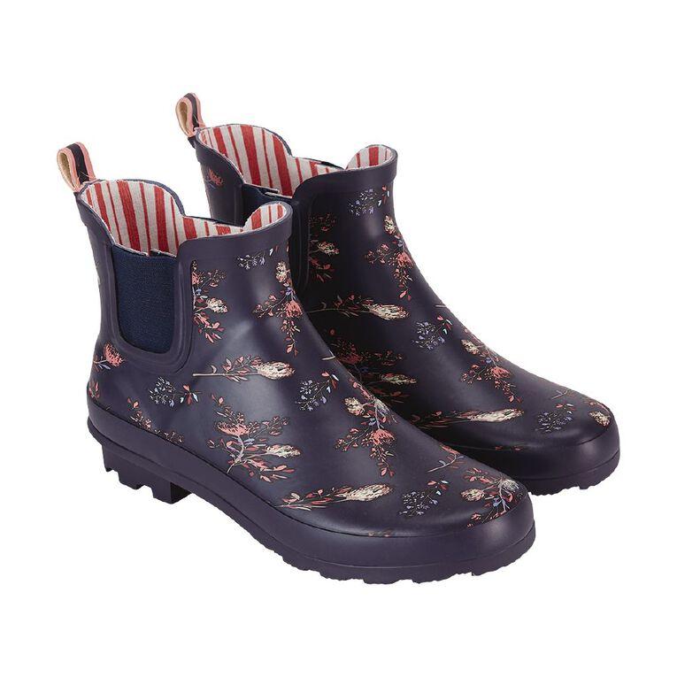 H&H Stormi Gumboots, Navy, hi-res