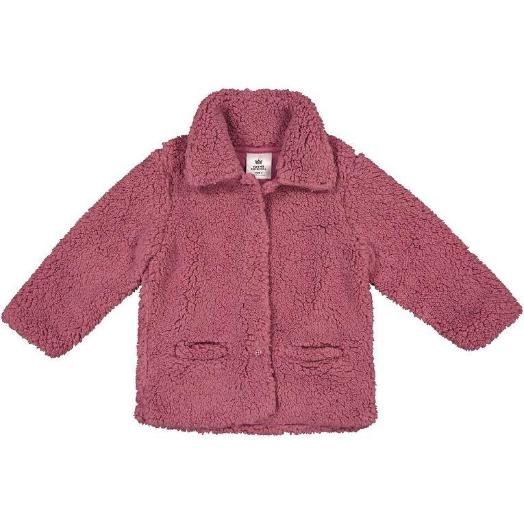 Young Original Toddler Sherpa Coat, Pink Mid, hi-res