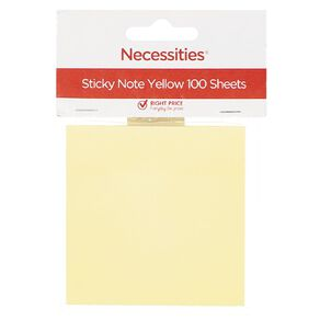 No Brand Sticky Notes Yellow 7.5cm x 7.5cm 100 Sheets Yellow