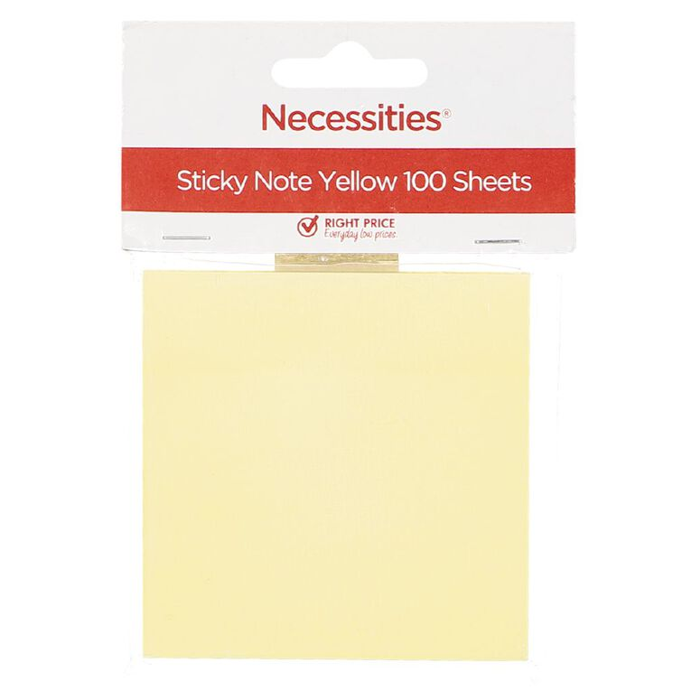 No Brand Sticky Notes Yellow 7.5cm x 7.5cm 100 Sheets Yellow, , hi-res