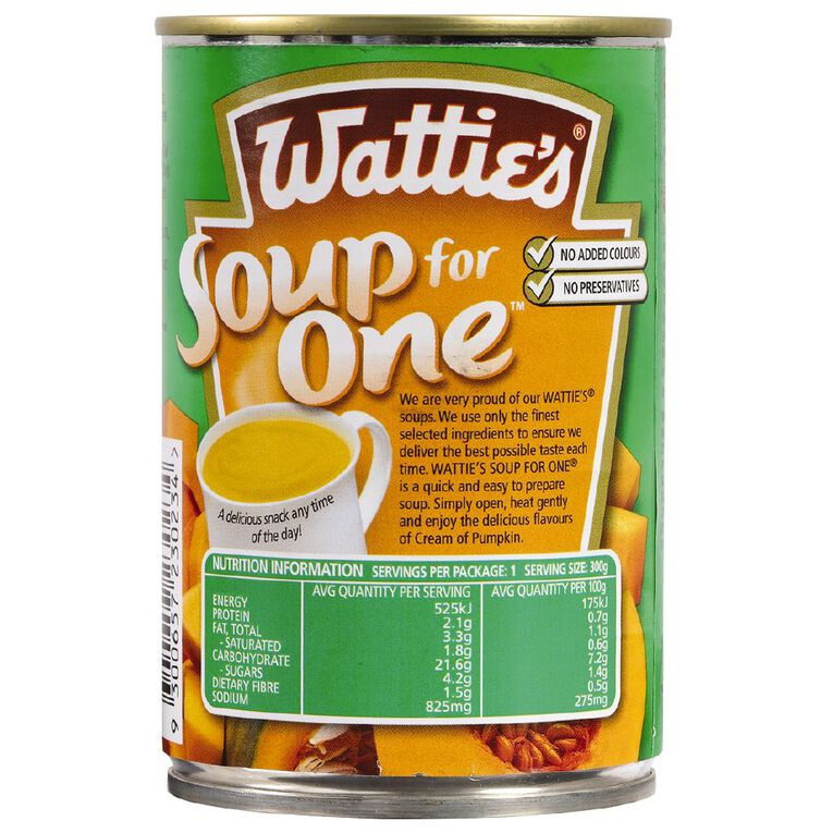 Wattie's Soup For One Creamy Pumpkin 300g, , hi-res