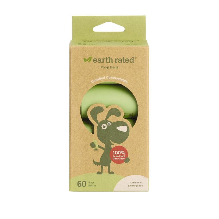 Ecopack Earth Rated Compostable Dog Poop Bags 60pk, , hi-res