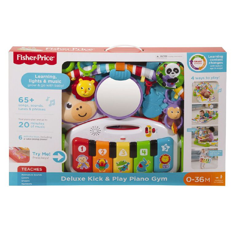 Fisher-Price Deluxe Kick and Play Gym Assorted, , hi-res