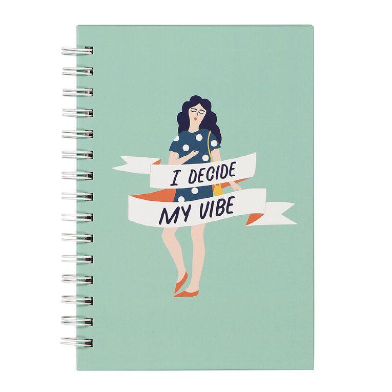 Uniti Empowerment Spiral Hardcover Notebook Green A5, , hi-res