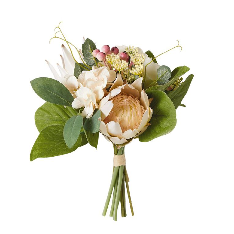 Living & Co Artificial Protea Mixed Bunch Multi-Coloured 25cm, , hi-res image number null