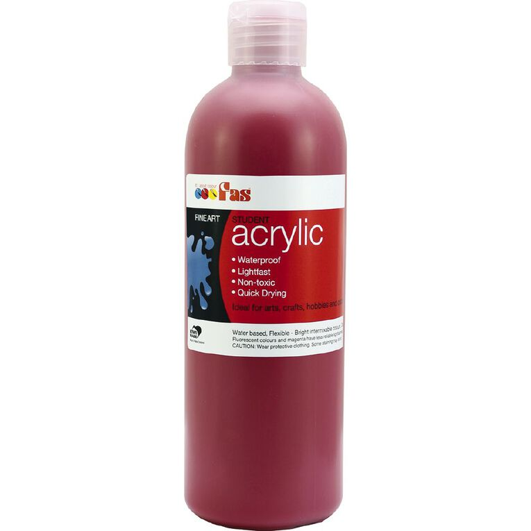 FAS Paint Student Acrylic Red 500ml, , hi-res