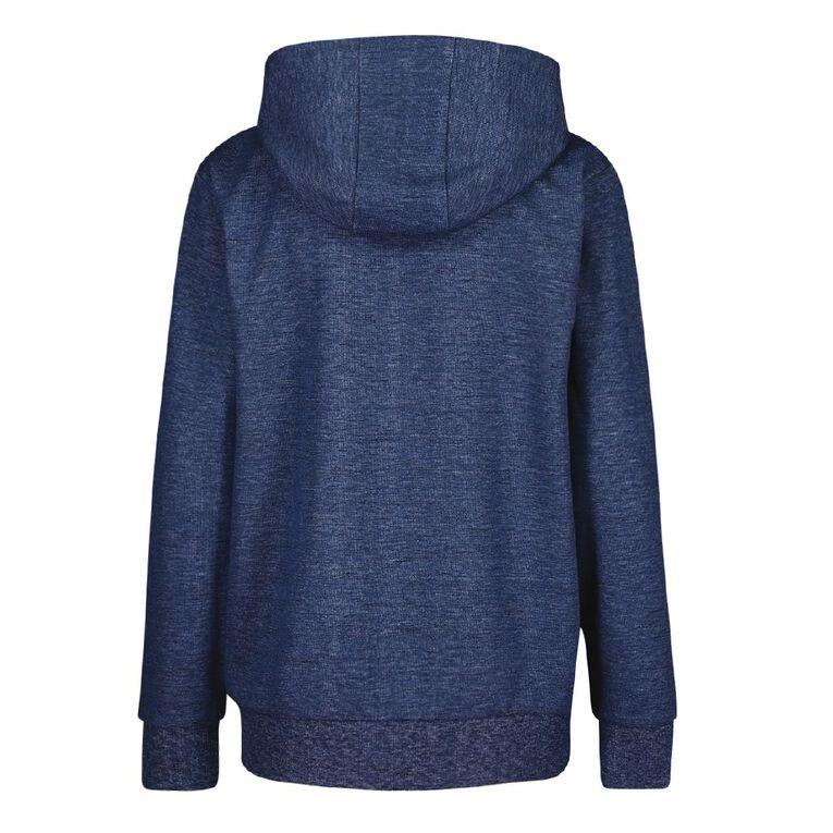 Active Intent Boys' Zip-Thru Sweatshirt, Blue Dark, hi-res