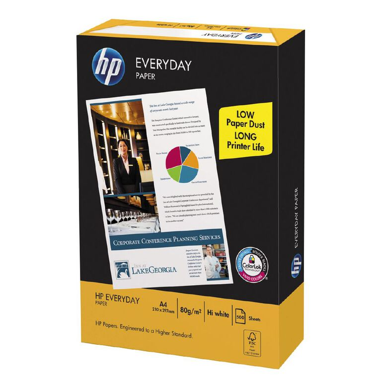 HP Everyday Copy Paper  80gsm 500 Sheet Ream, , hi-res