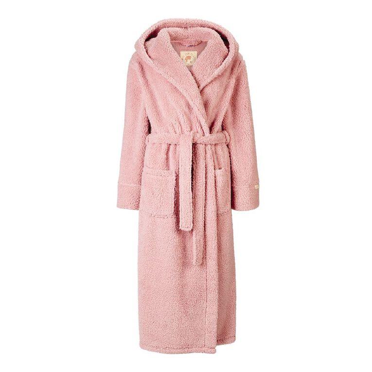 H&H Love Your Planet Women's Hooded Robe, Pink, hi-res