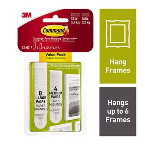 Command Picture Hanging Strips Large/Medium Value Pack