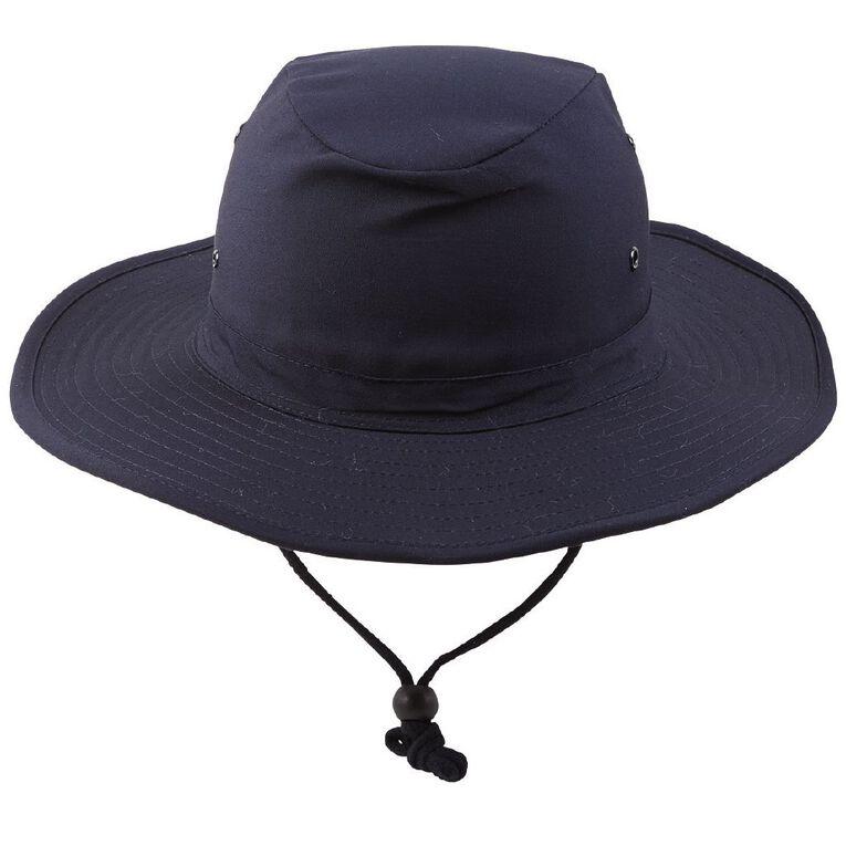 Schooltex Aussie Style Hat, Navy, hi-res