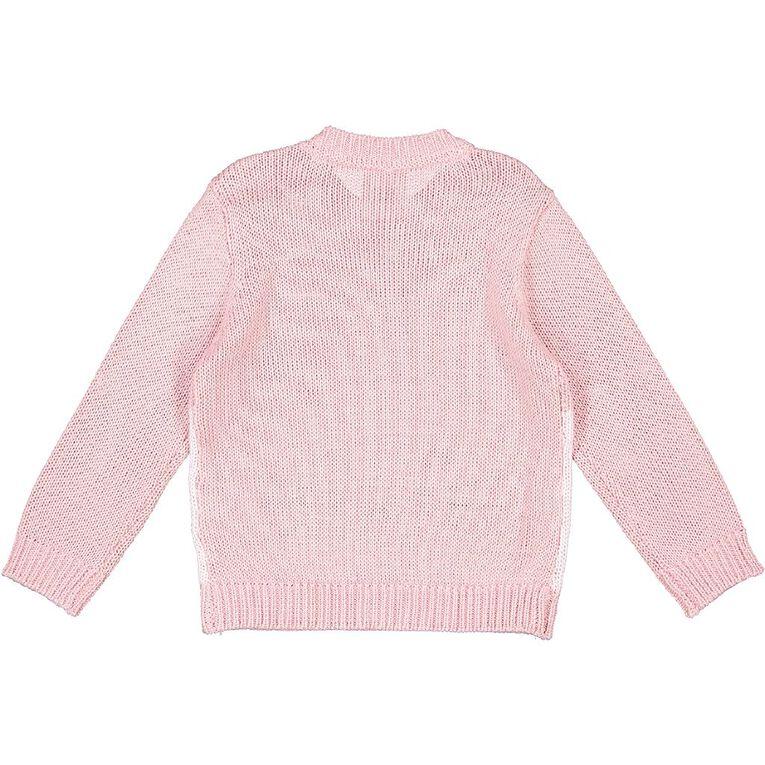 Young Original Toddler Knit Jumper, Pink Light, hi-res