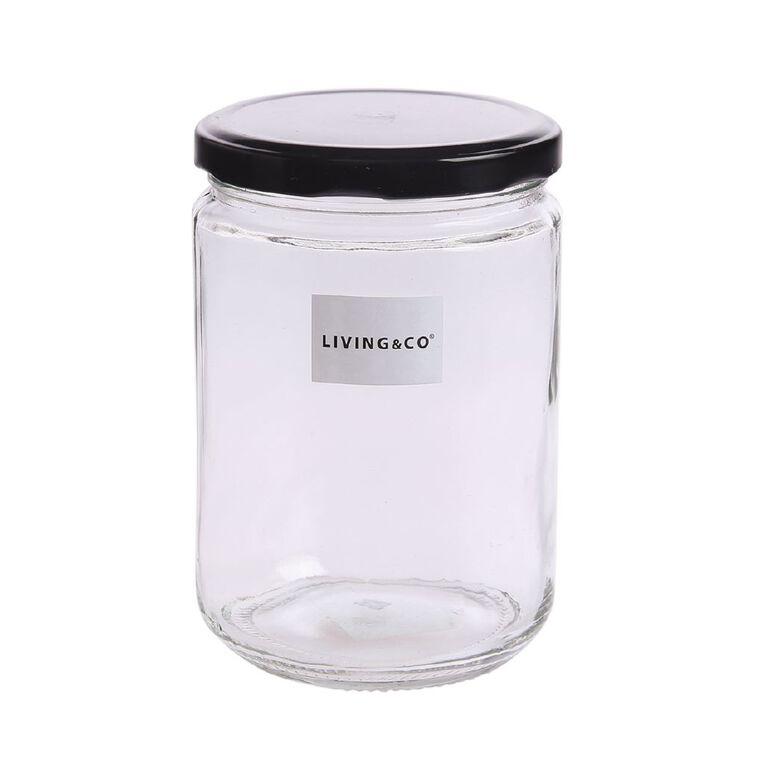 Living & Co Preserving Jar Clear 500ml, , hi-res