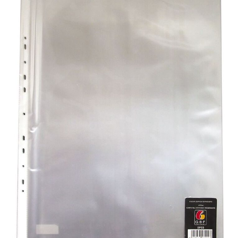 Office Supply Co Copysafe Pockets 10 Pack Clear A3, , hi-res