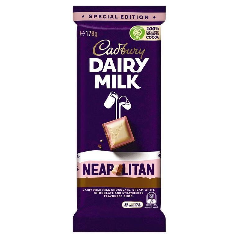 Cadbury Dairy Milk Triple Decker Neapolitan Block 178g, , hi-res