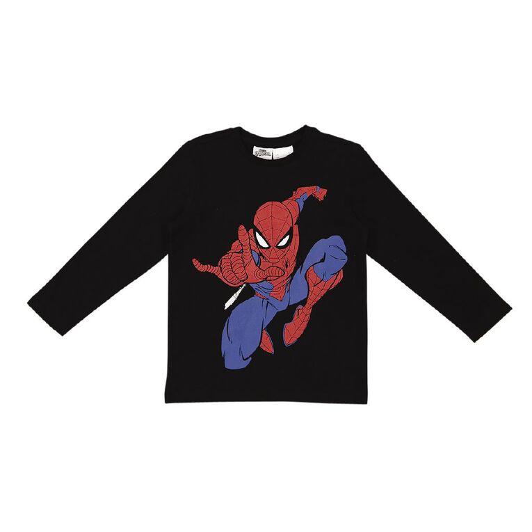 Spider-Man Long Sleeve Print Tee, Charcoal, hi-res