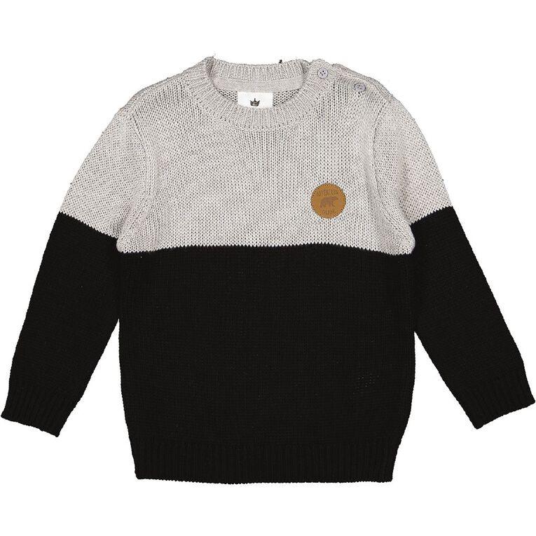 Young Original Toddler Knit Jumper, Grey Mid, hi-res