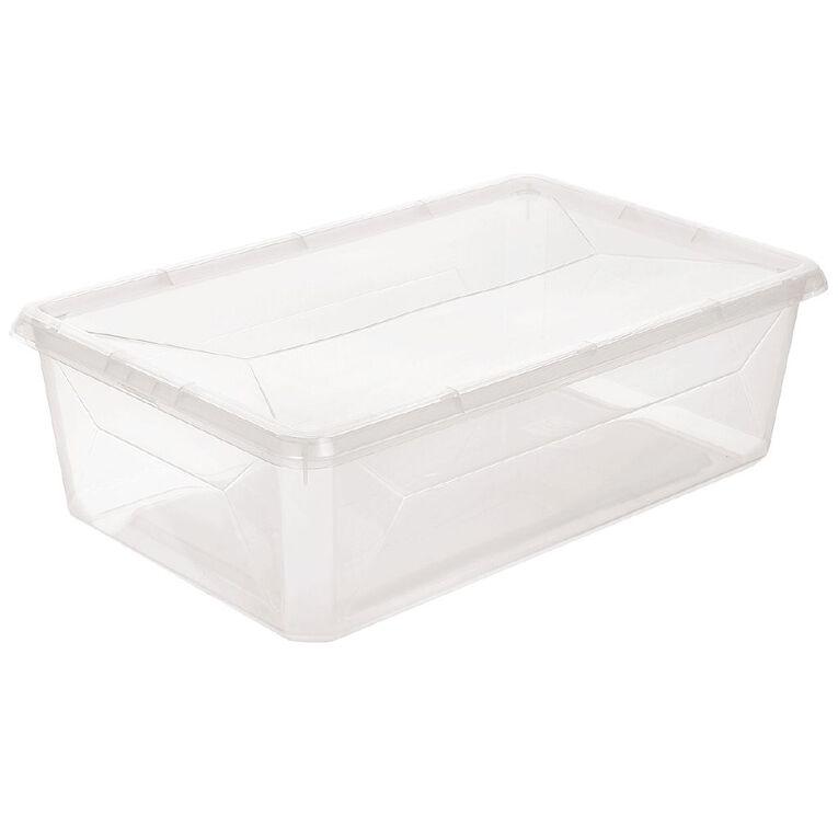 Living & Co Wardrobe Storage Clear 6.5L, , hi-res