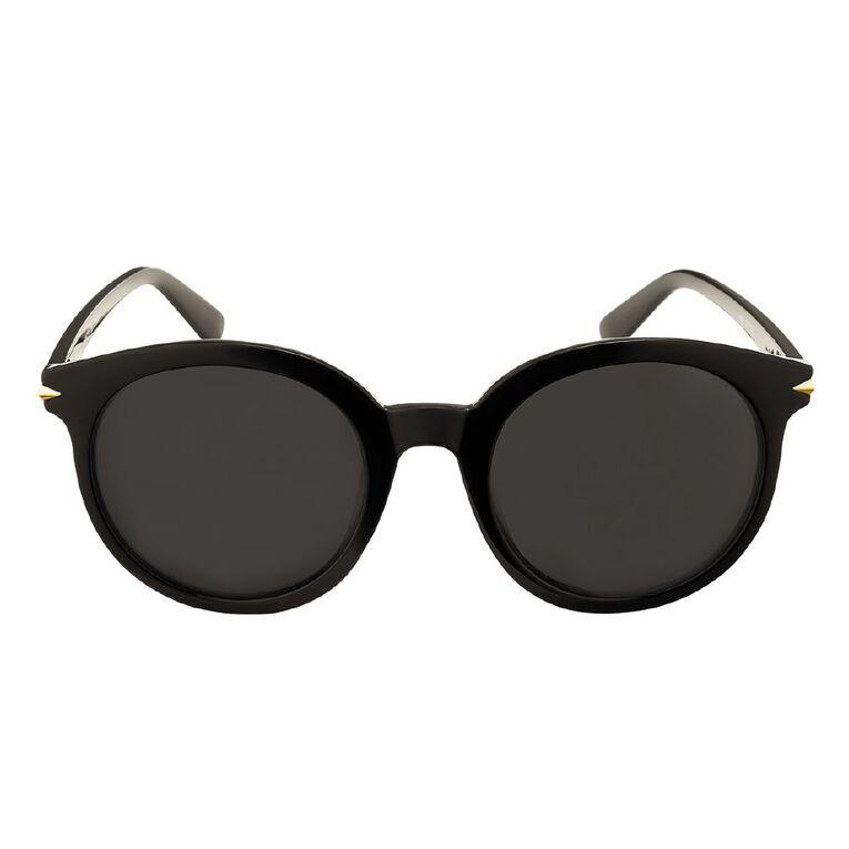 H&H Essentials Arrow Round Sunglasses, Black, hi-res image number null