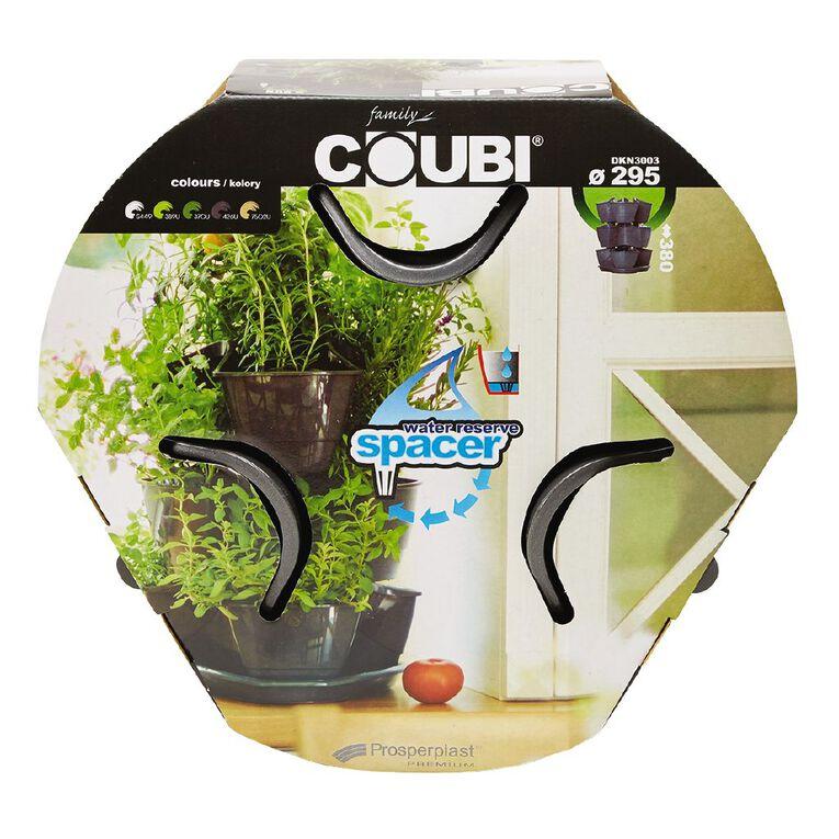 Prosperplast Plastic Herb and Strawberry Pot Grey Dark 3 Pack, , hi-res