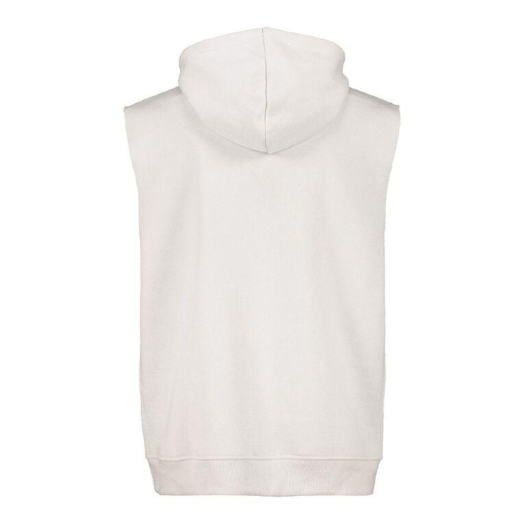 Garage Men's Sleeveless Hooded Sweatshirt, Grey, hi-res