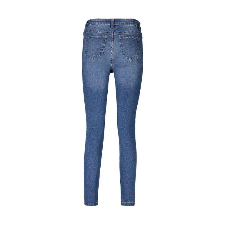 H&H Women's Mid Rise Skinny Jeans, Denim Mid, hi-res
