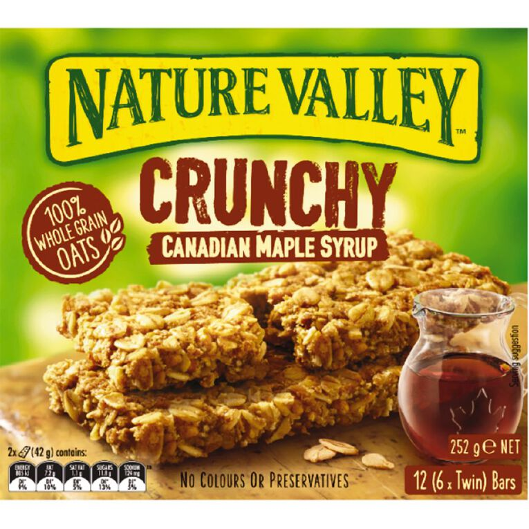 Nature Valley Crunchy Canadian Maple Syrup 6 Pack 252g, , hi-res
