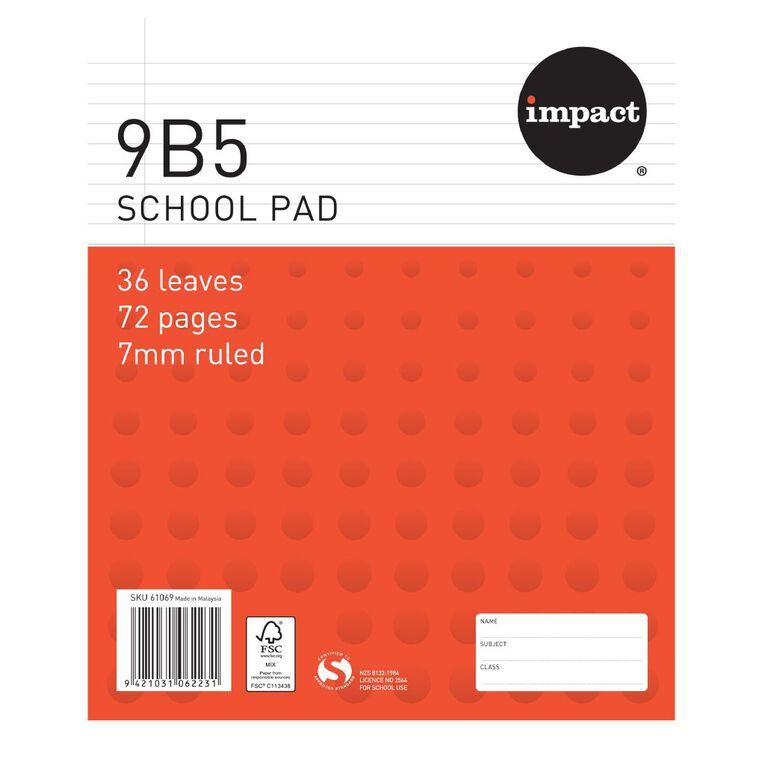Impact Pad Refill 9B5 7mm Ruled 36 Leaf Red, , hi-res