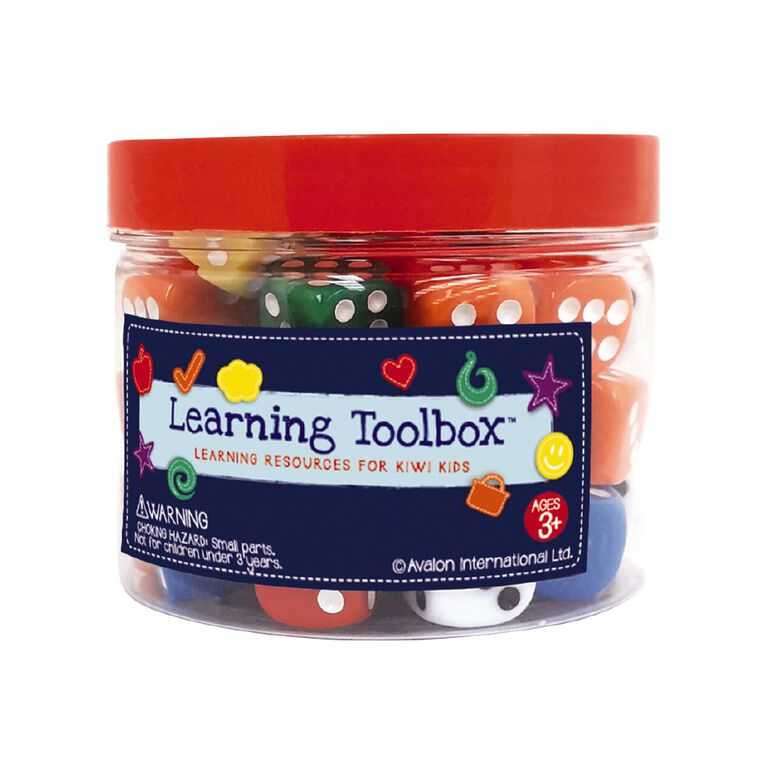 Learning Tool Box Coloured Dice 50pieces, , hi-res