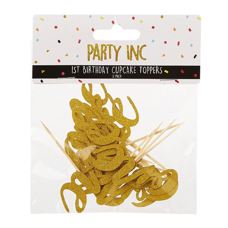 Party Inc 1st Birthday Cupcake Toppers One 12 Pack, , hi-res