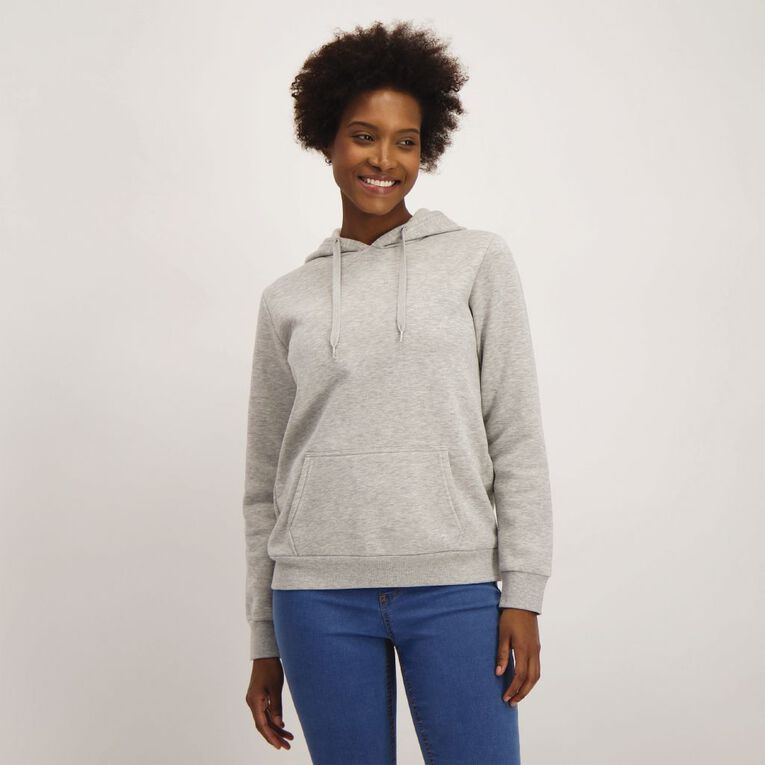 H&H Women's Plain Hoodie, Grey, hi-res image number null