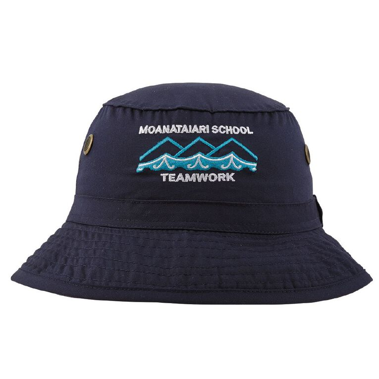 Schooltex Moanataiari School Bucket Hat with Embroidery, Navy, hi-res