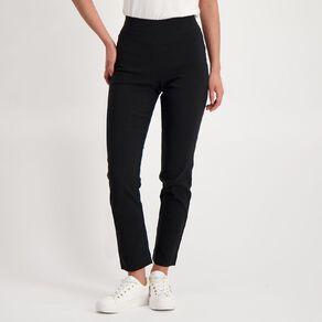 H&H Women's Straight Pull On Bengaline Pants