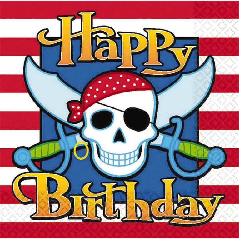 Amscan Pirate Party Lunch Napkins 16 Pack, , hi-res