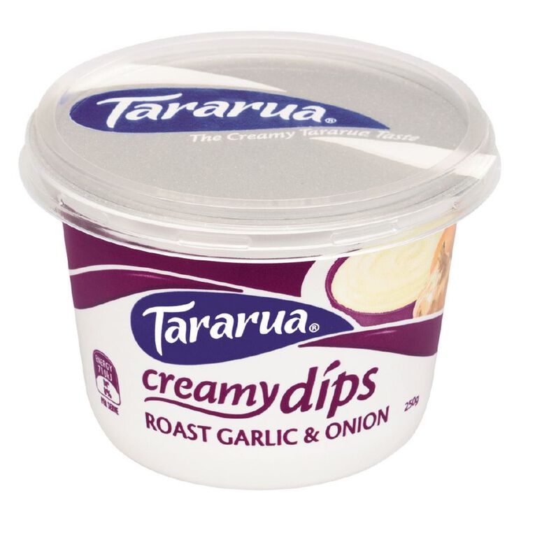Tararua Roasted Garlic and Onion Dip 250g, , hi-res