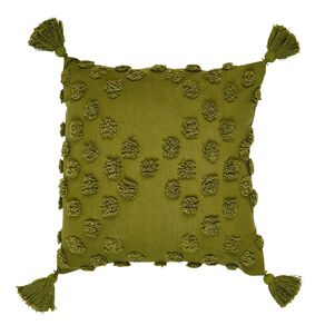 Living & Co Tufted Spot Cushion with Tassels 45cm x 45cm