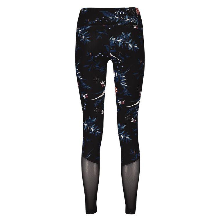 Active Intent Women's Pocket And Mesh Leggings, Black NIGHT GARD, hi-res