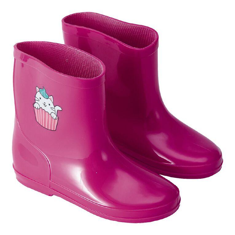 Young Original Splash Junior Gumboots, Pink Light, hi-res image number null