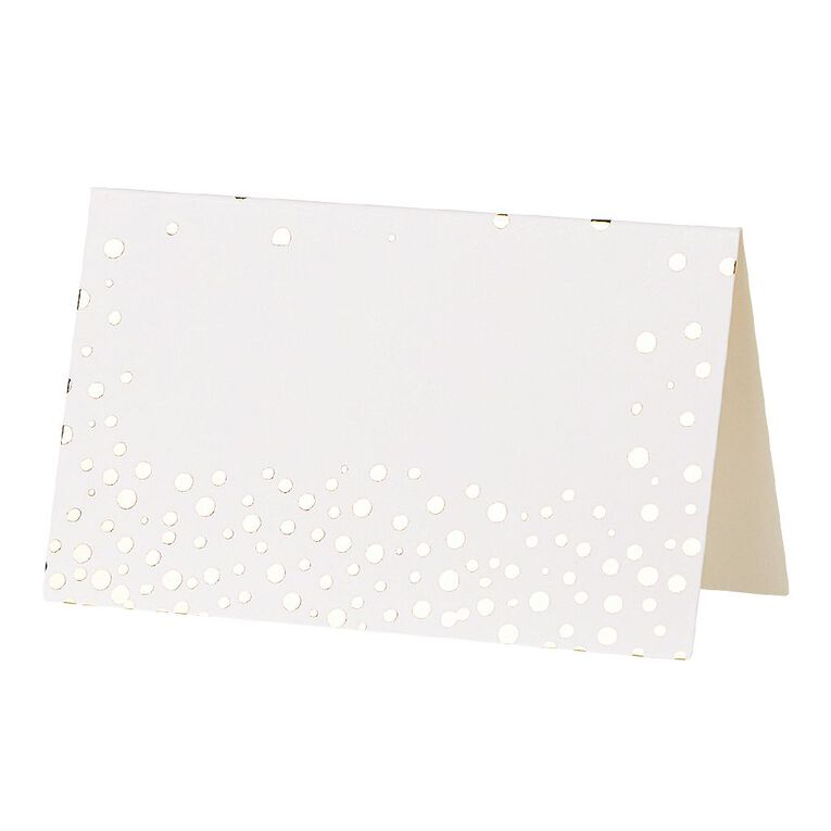Party Inc Place Cards White with Gold Foil 12 Pack, , hi-res