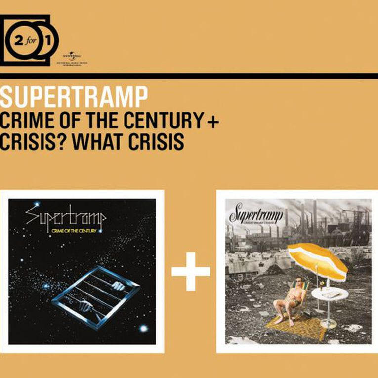 2 for 1 Crime of The Century/Crisis What Crisis CD by Supertramp 2Disc, , hi-res