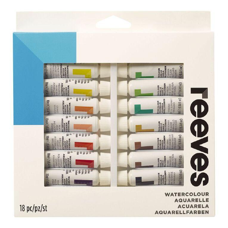 Reeves Watercolour Set 18 Tubes Multi-Coloured, , hi-res