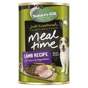 Nature's Gift Lamb Pasta Vegetable Dog Food 700g