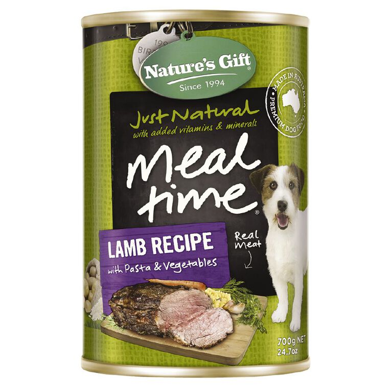 Nature's Gift Lamb Pasta Vegetable Dog Food 700g, , hi-res